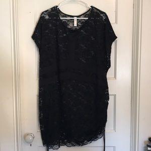09c93111fe Lane Bryant Black Lace Swim Cover Up